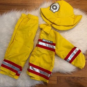 Toddler Fireman Costume, Sz 2T/24 Mo 🚒